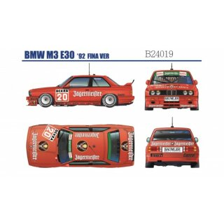 BMW M3 E30 DTM 1992 Team Jaegermeister +  Fina  1/24 KIT