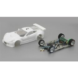 Corvette C7R Full Racing RC Competition White Kit mit...