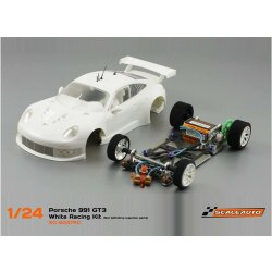 Porsche 991 GT3 White Racing competition Kit Scaleauto
