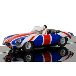 Jaguar E-Type Union Jack  Scalextric C3878